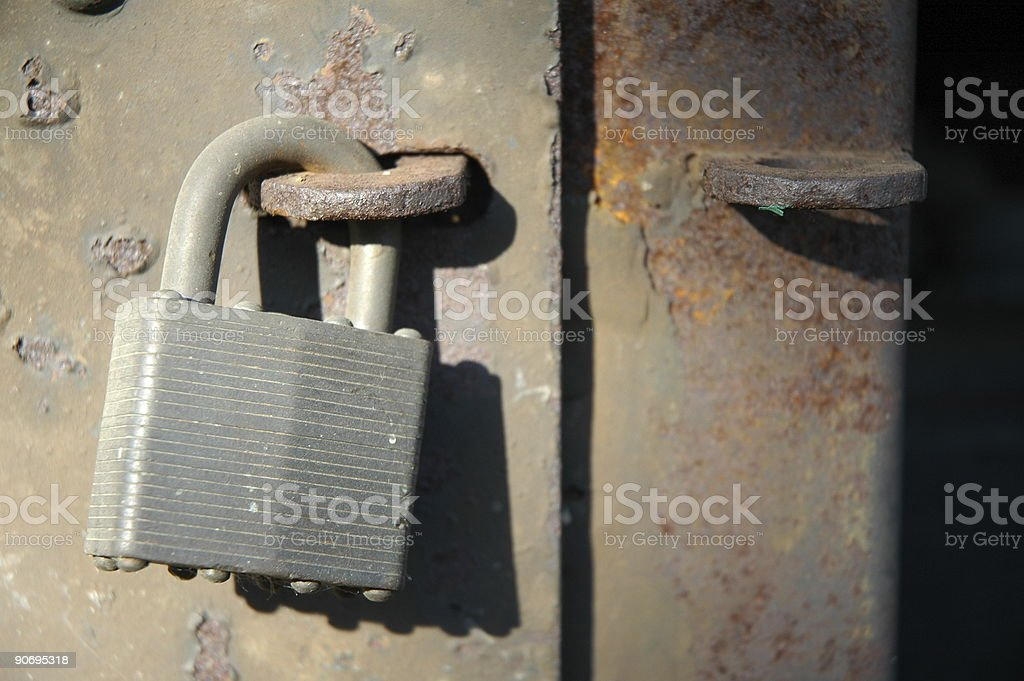 Aged Textures - Locked stock photo