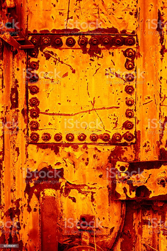 Aged Textures - Square Port stock photo