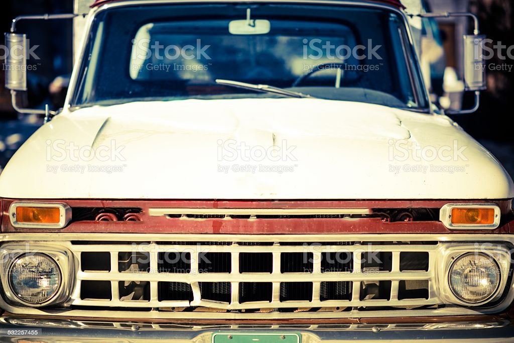 Aged Truck Front Closeup stock photo