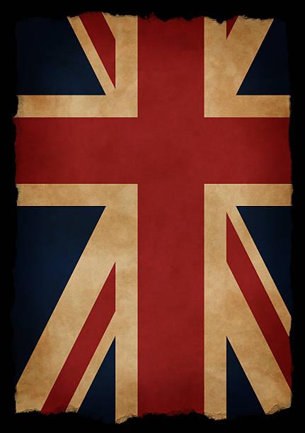Aged UK Flag stock photo