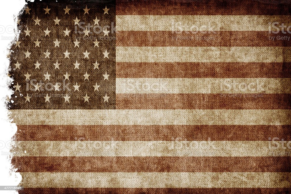 Aged USA flag stock photo