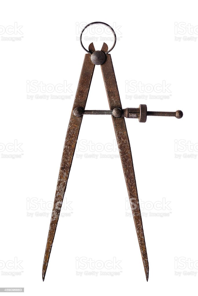 Aged vintage calipers stock photo