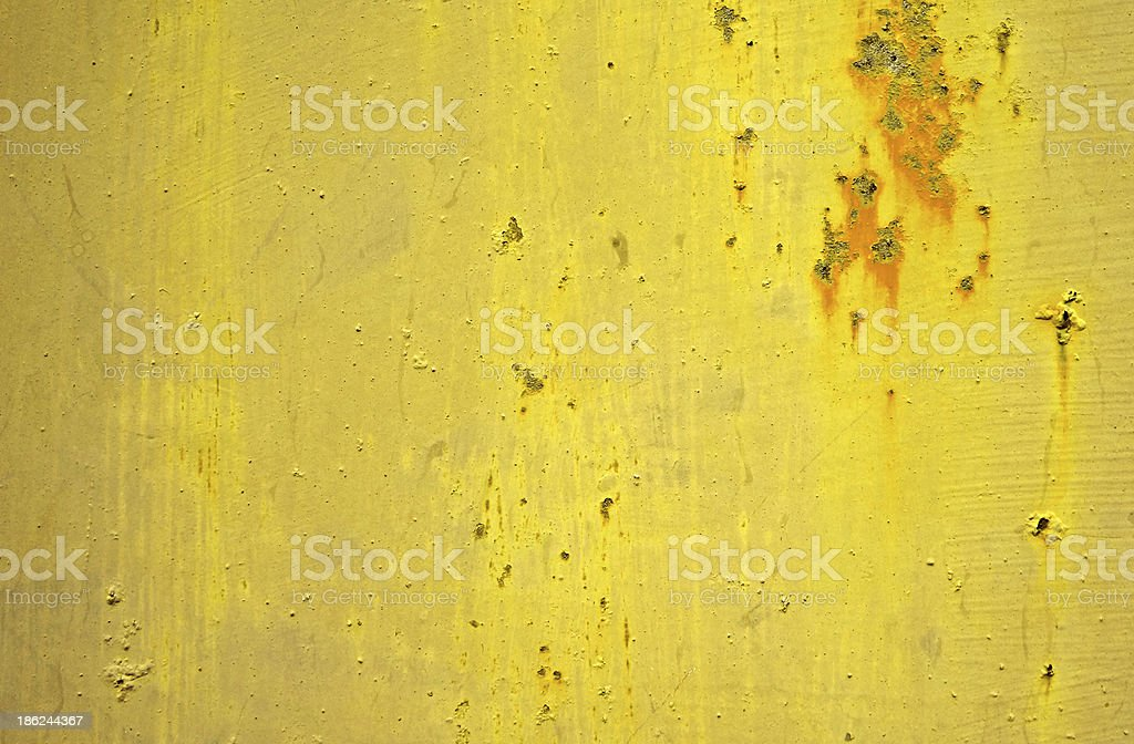 aged wall with rust royalty-free stock photo