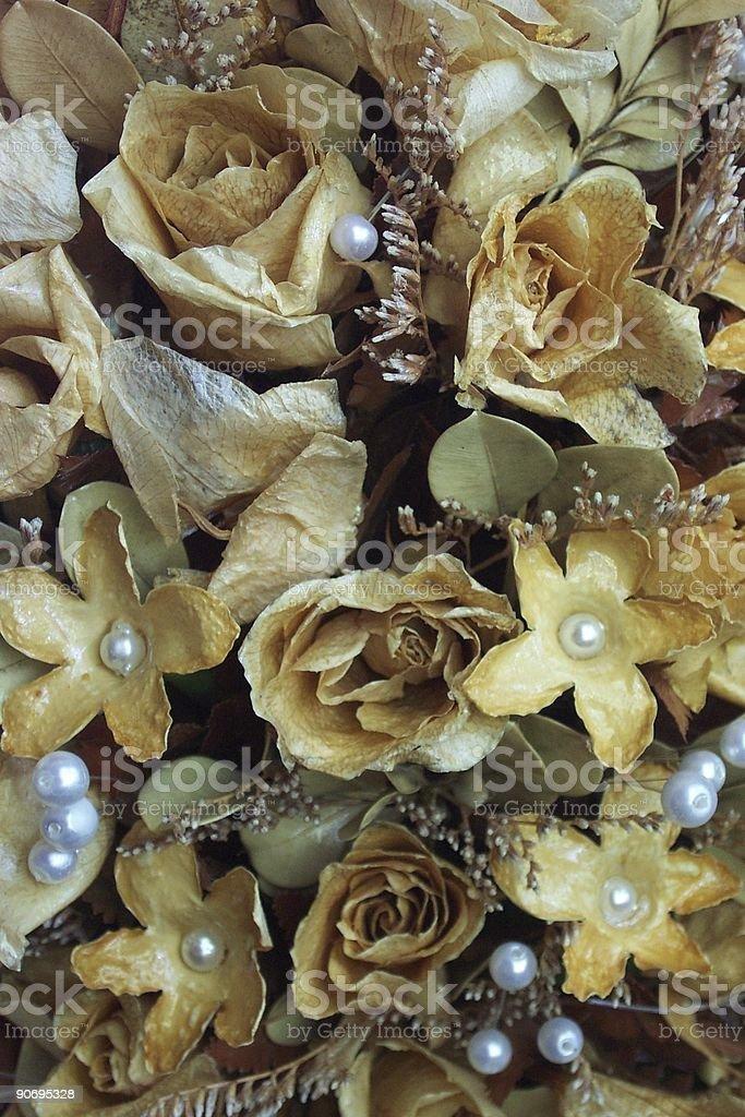 aged wedding bouquet stock photo