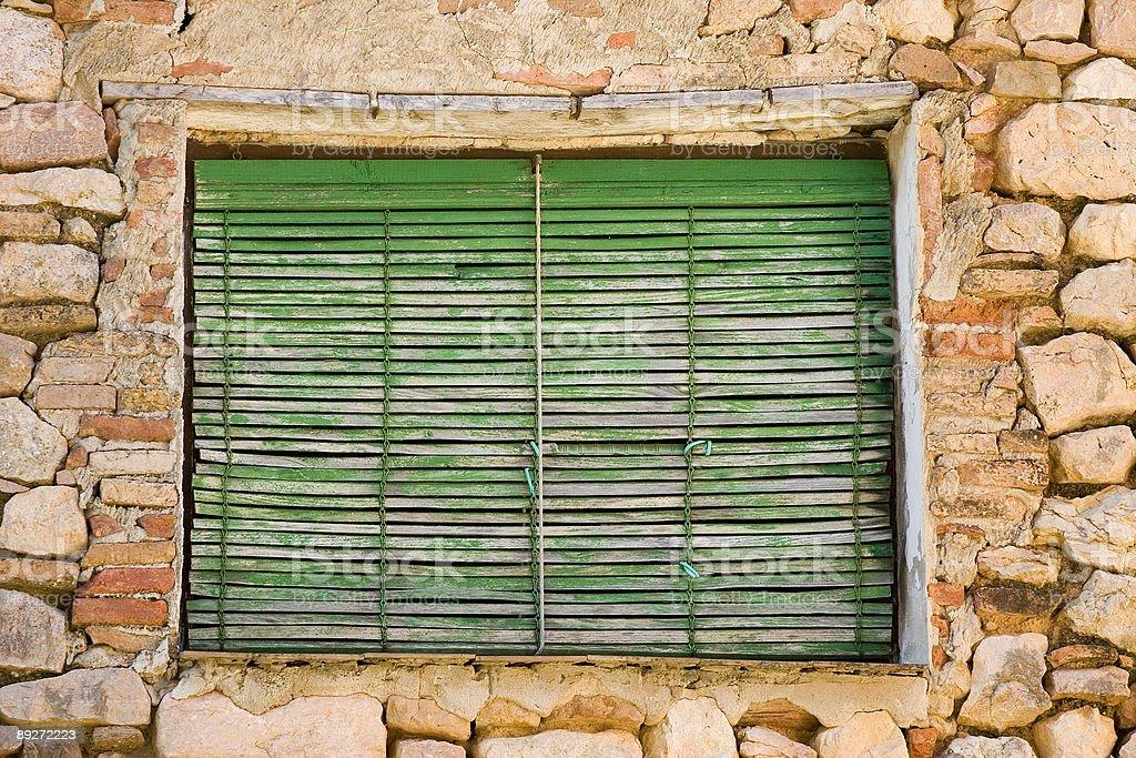 Aged window royalty-free stock photo