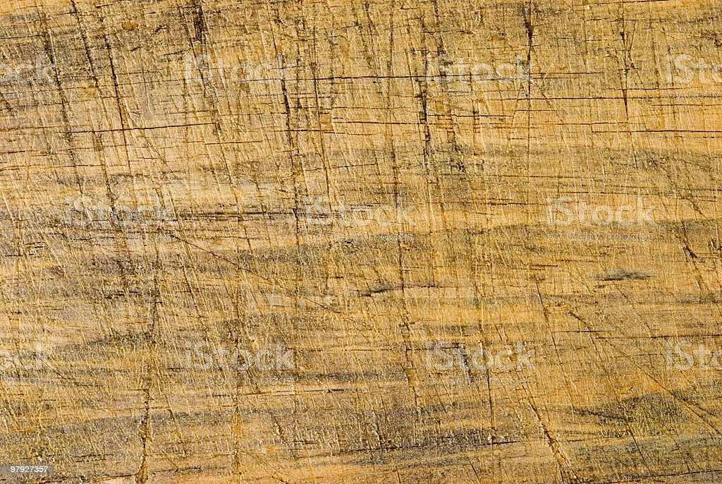 Aged wooden background with cut line royalty-free stock photo