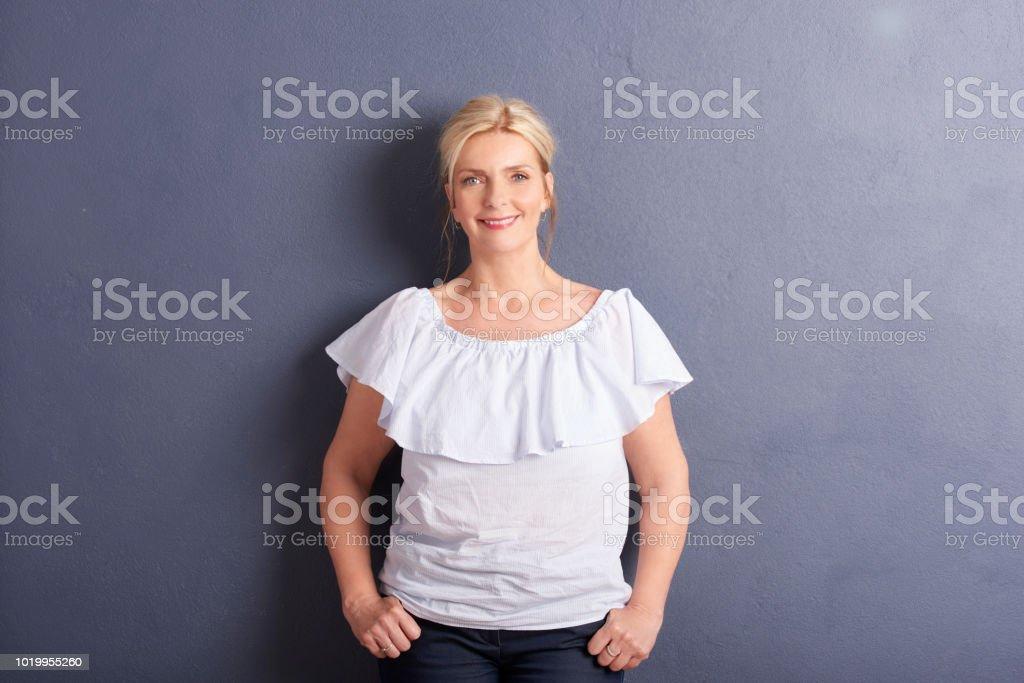 Ageless beautiful woman portrait stock photo