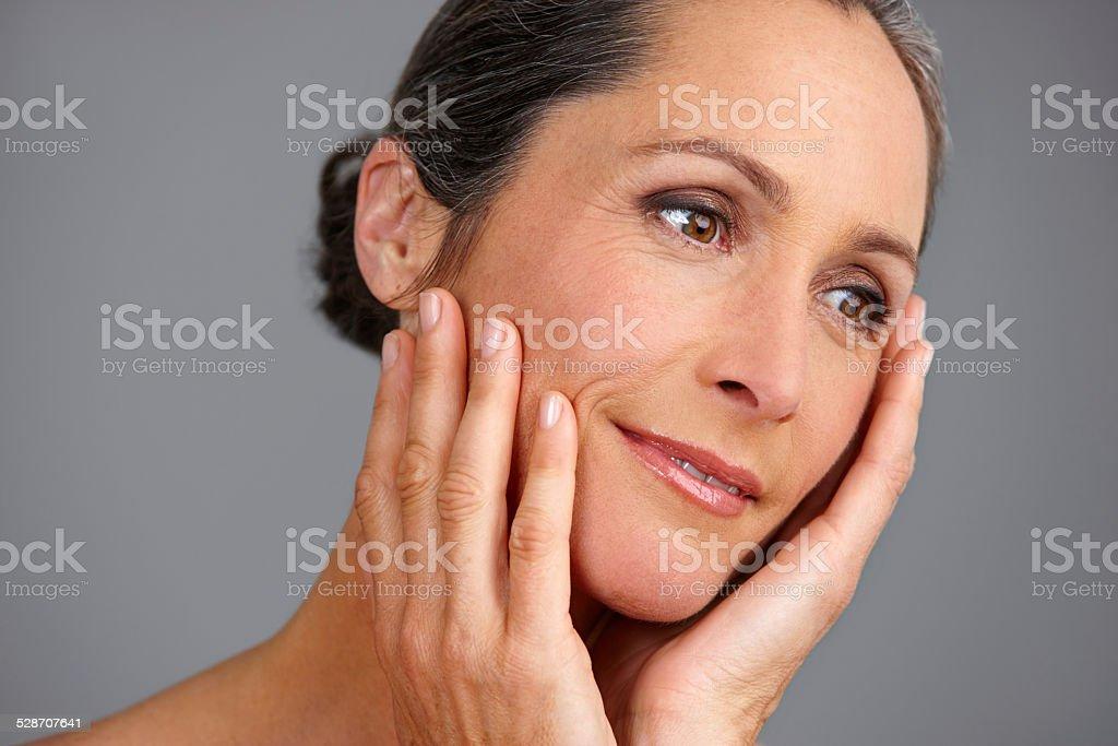 Ageless beauty stock photo