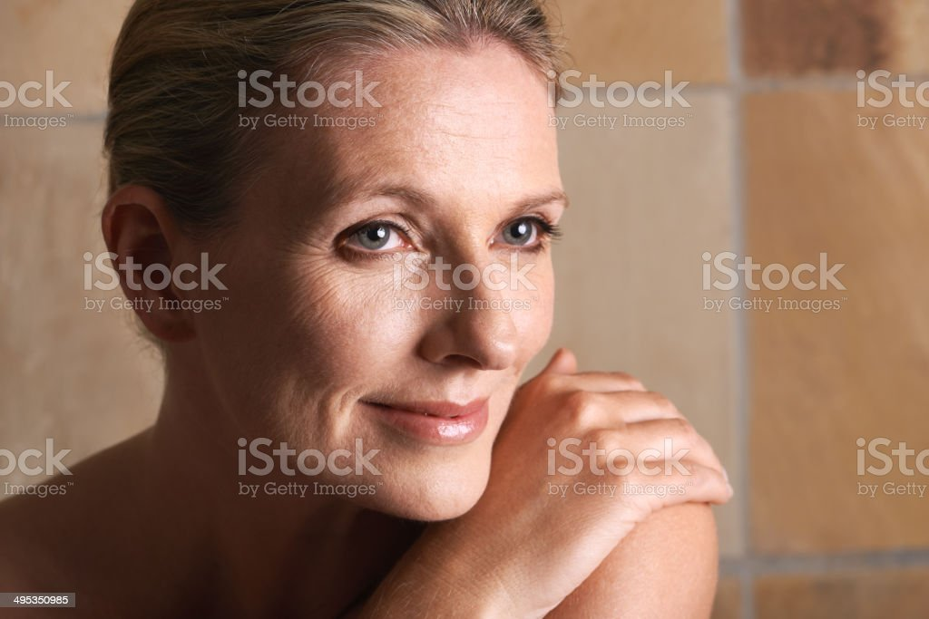 Ageless radiance in the morning light stock photo