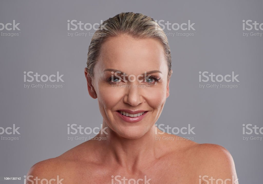 Ageless skin all over is what I love stock photo