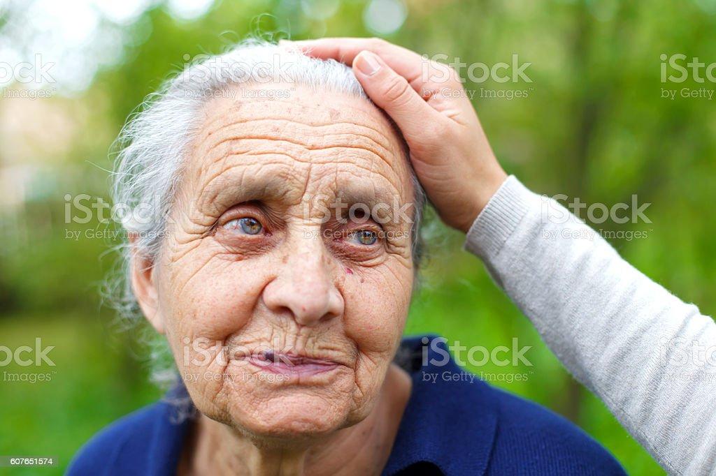 Ageless smile stock photo