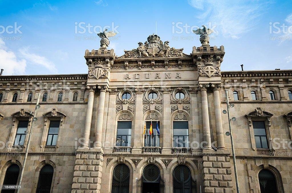 Agencia de administração Estatal tributaria em Barcelona - foto de acervo