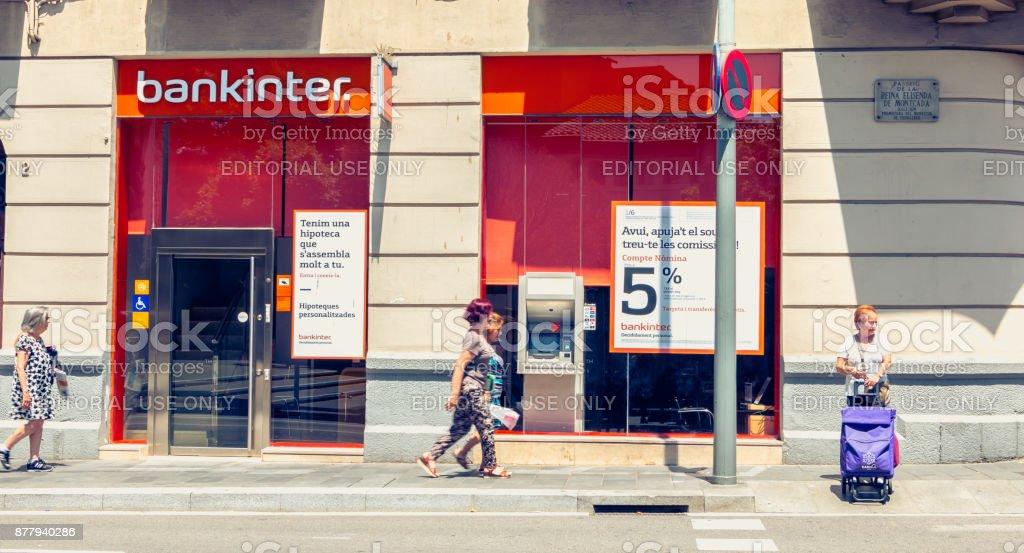 agency of the company Bankinter, a Spanish banking company stock photo
