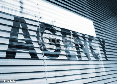 185257431 istock photo Agency text on window 181133030