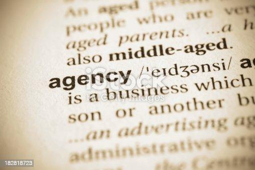 istock Agency word 182818723