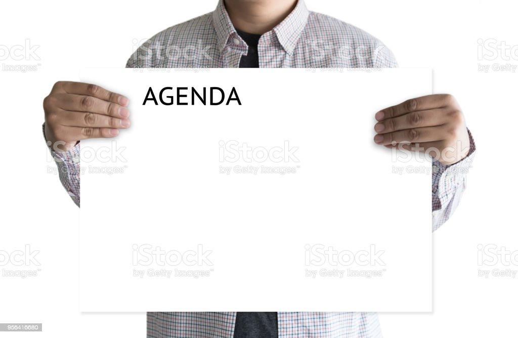 Tagesordnung Aktivität Kalender Informationsveranstaltungen und Besprechungstermin – Foto