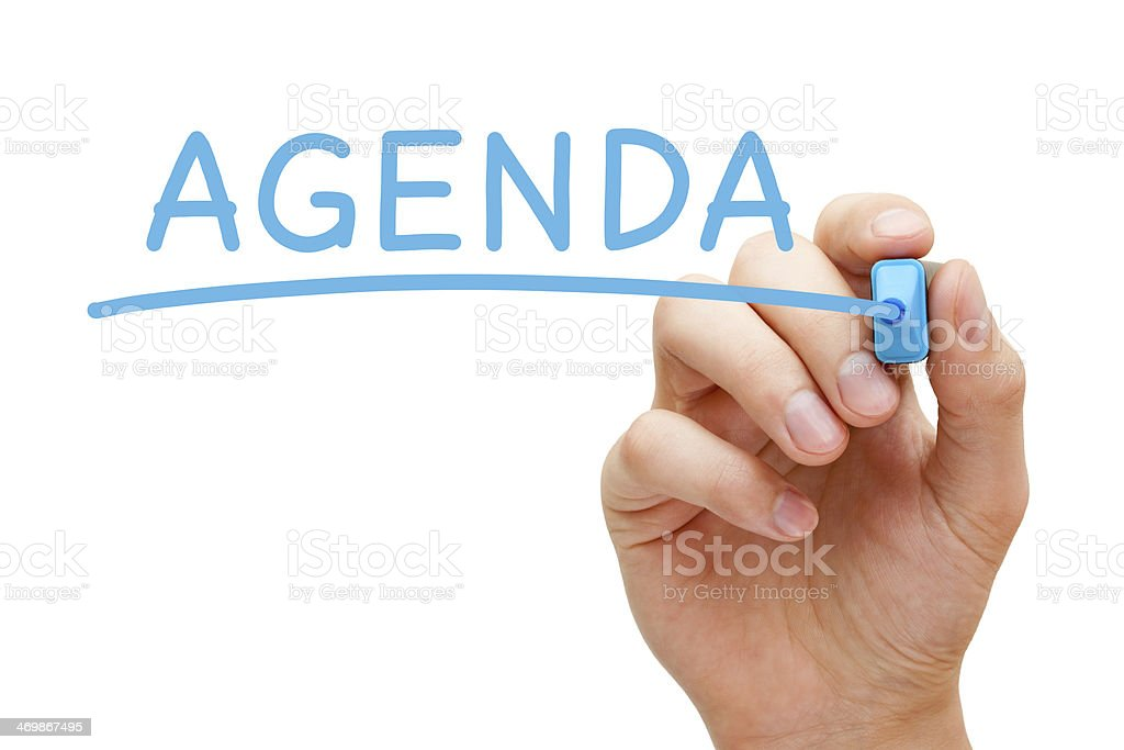 Agenda Blue Marker stock photo