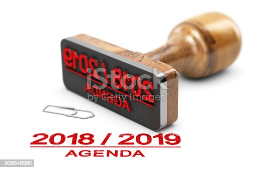 istock Agenda or Planning 2018 2019 Over White Background 908546980