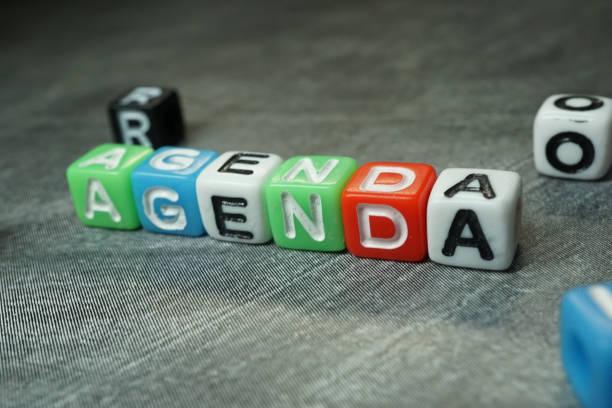gündem - agenda stok fotoğraflar ve resimler