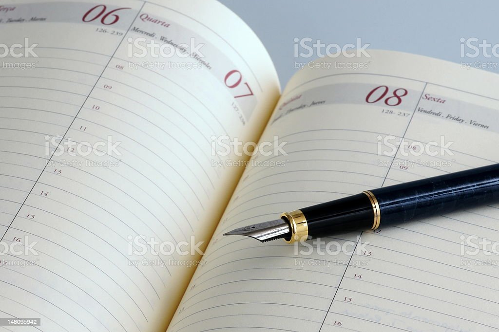 Agenda royalty-free stock photo