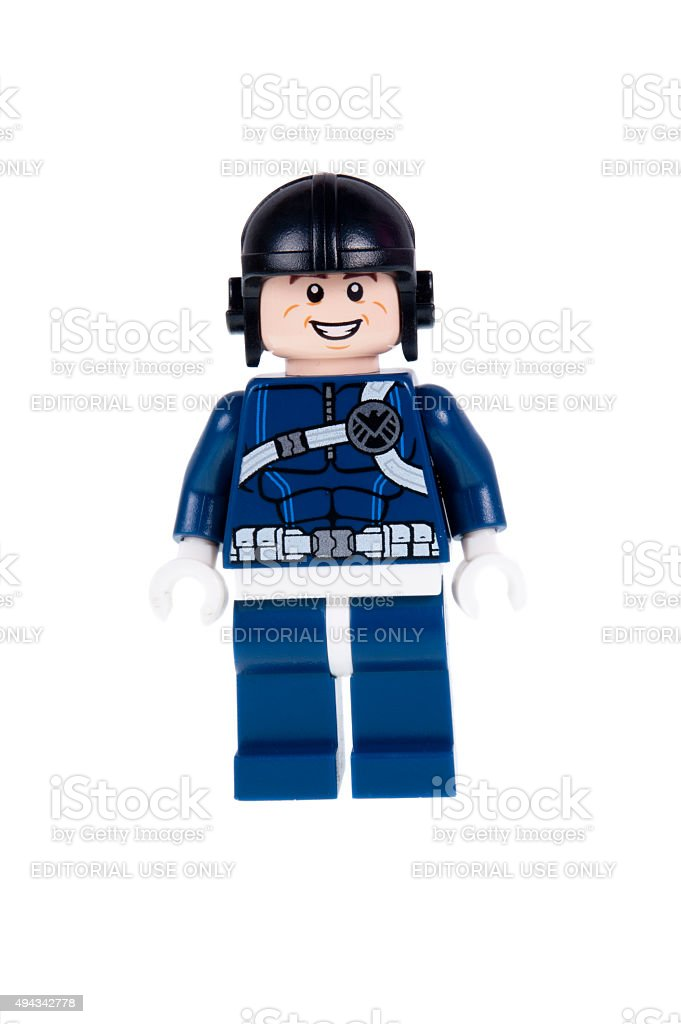 S.H.I.E.L.D. Agent Minifigure stock photo