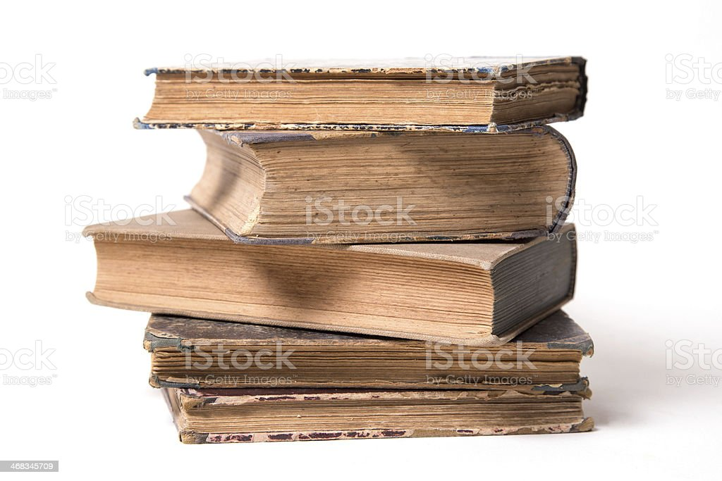 age-old books royalty-free stock photo
