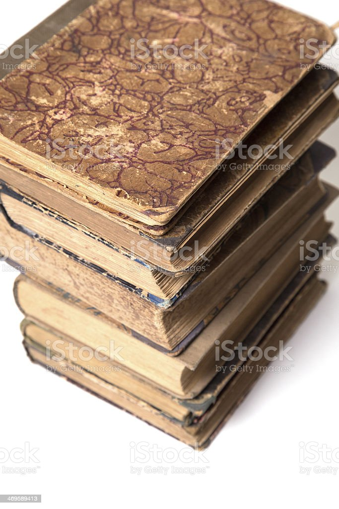 age-old books stock photo