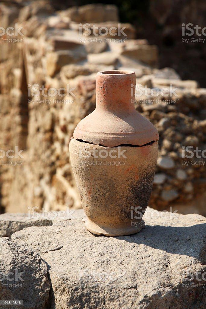 age-old broken jug royalty-free stock photo