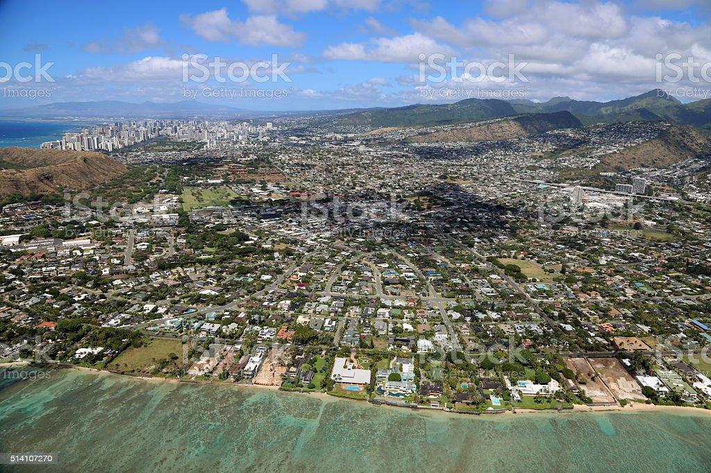 Agglomeration of Honolulu stock photo