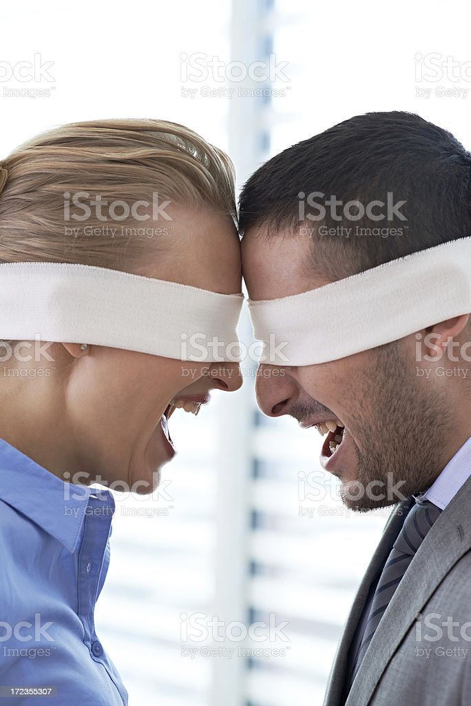 Aggression in business royalty-free stock photo