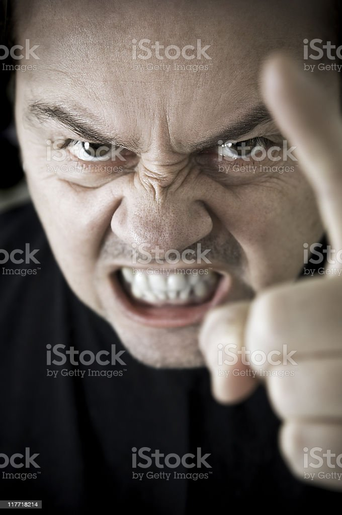 Aggression royalty-free stock photo