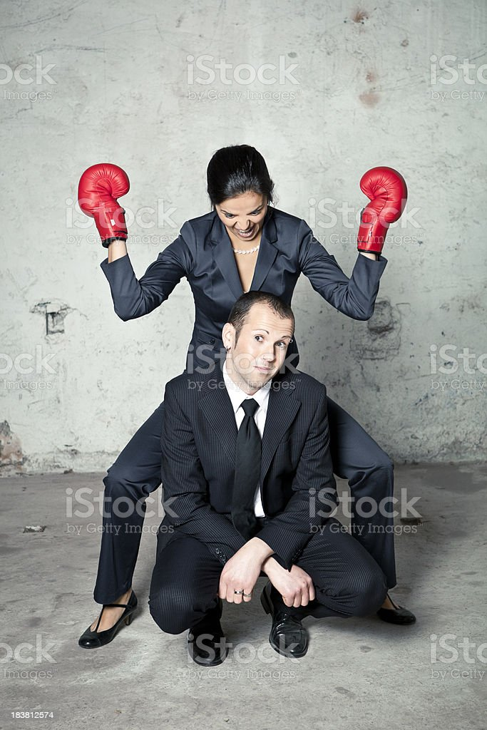 Aggression royalty-free stock photo