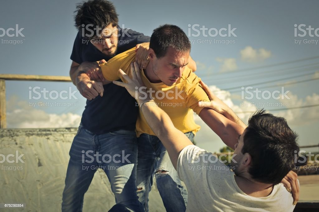 Agression stock photo