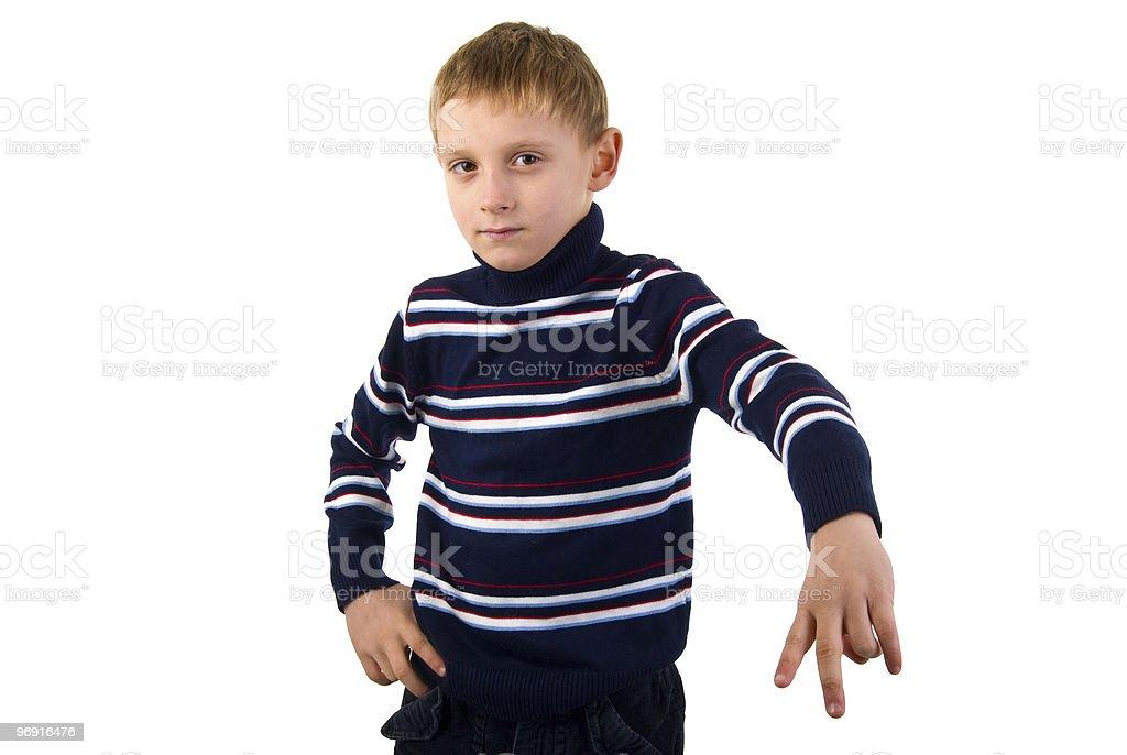 Aggressive Boy Portrait. royalty-free stock photo