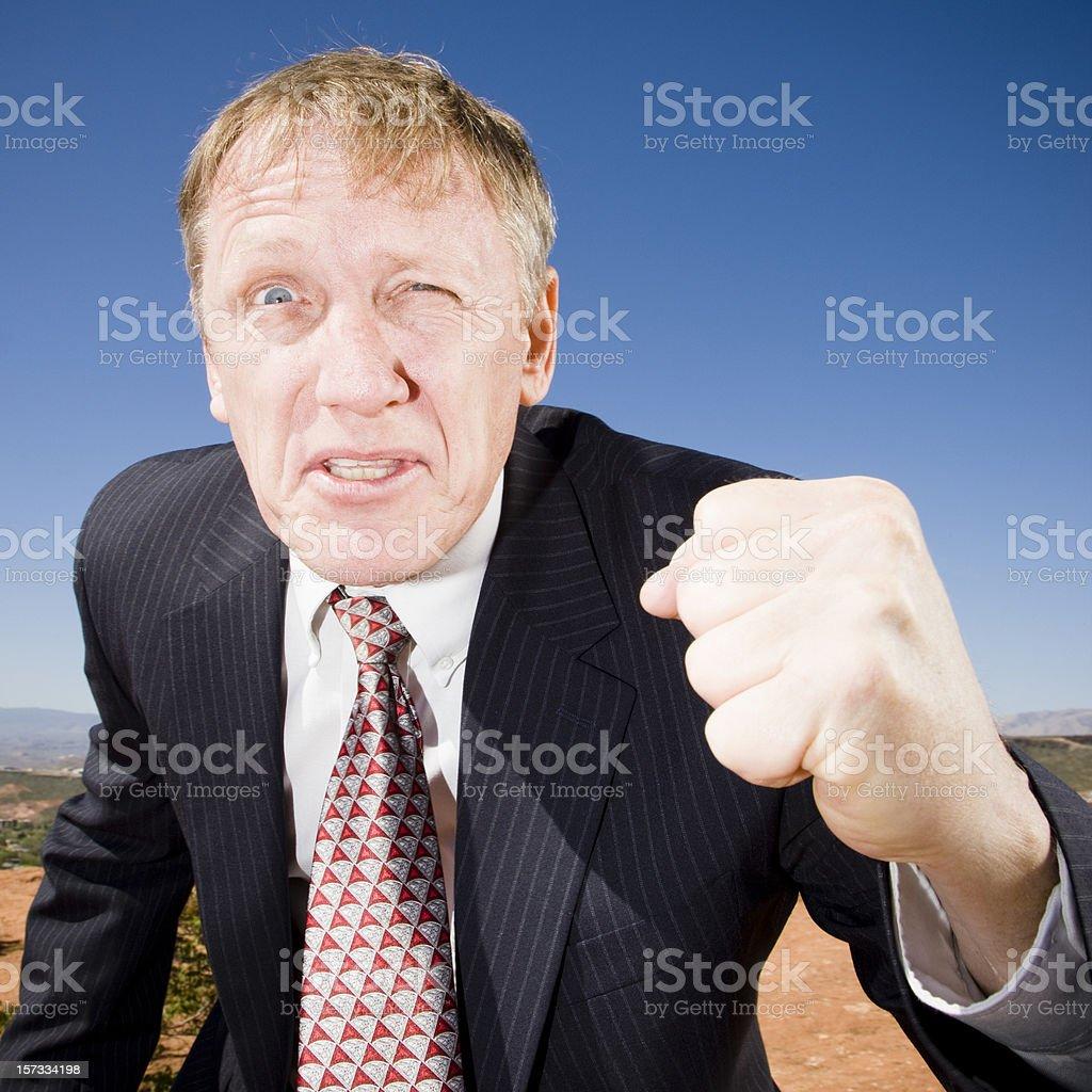Aggressive Business Man royalty-free stock photo
