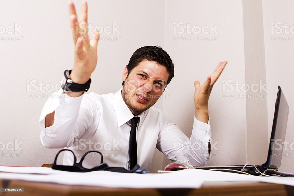 Aggressive Businessman stock photo