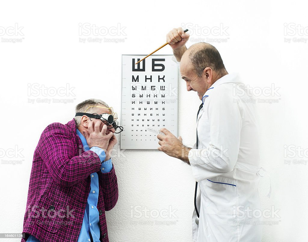 Aggressive doctor royalty-free stock photo