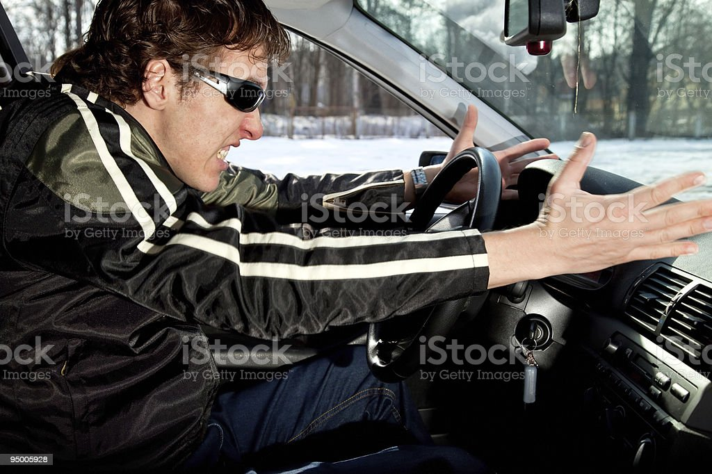 Aggressive driver royalty-free stock photo