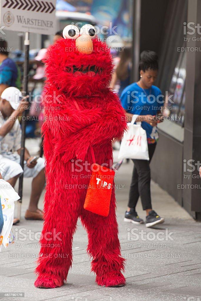 Aggressive Elmo stock photo