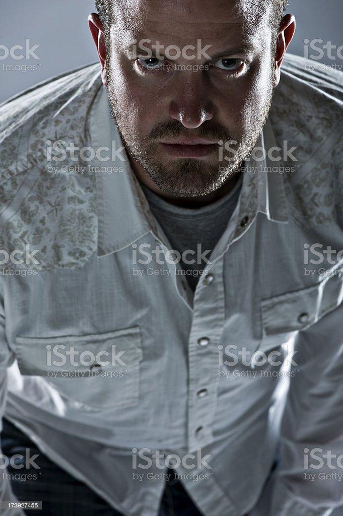 Aggressive Man (XL) royalty-free stock photo