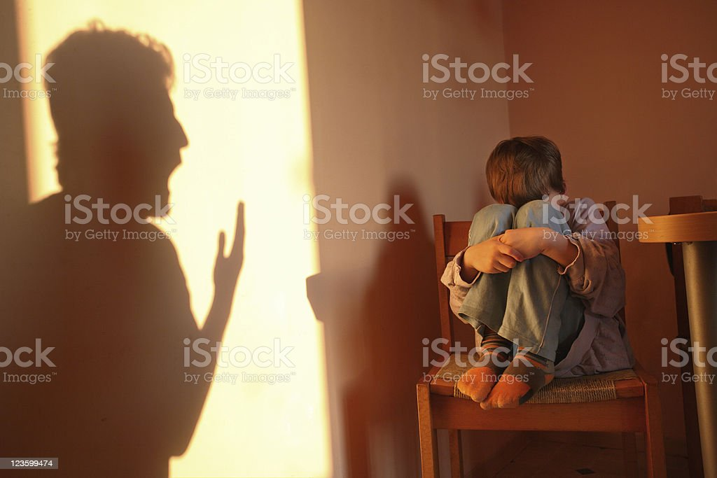 Aggressive parent stock photo