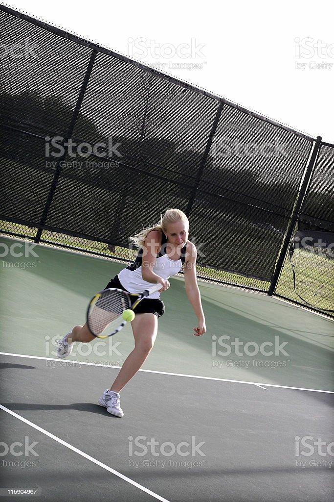 aggressive tennis royalty-free stock photo