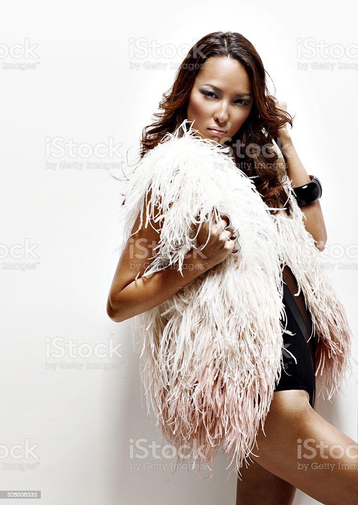 Aggressive woman stock photo