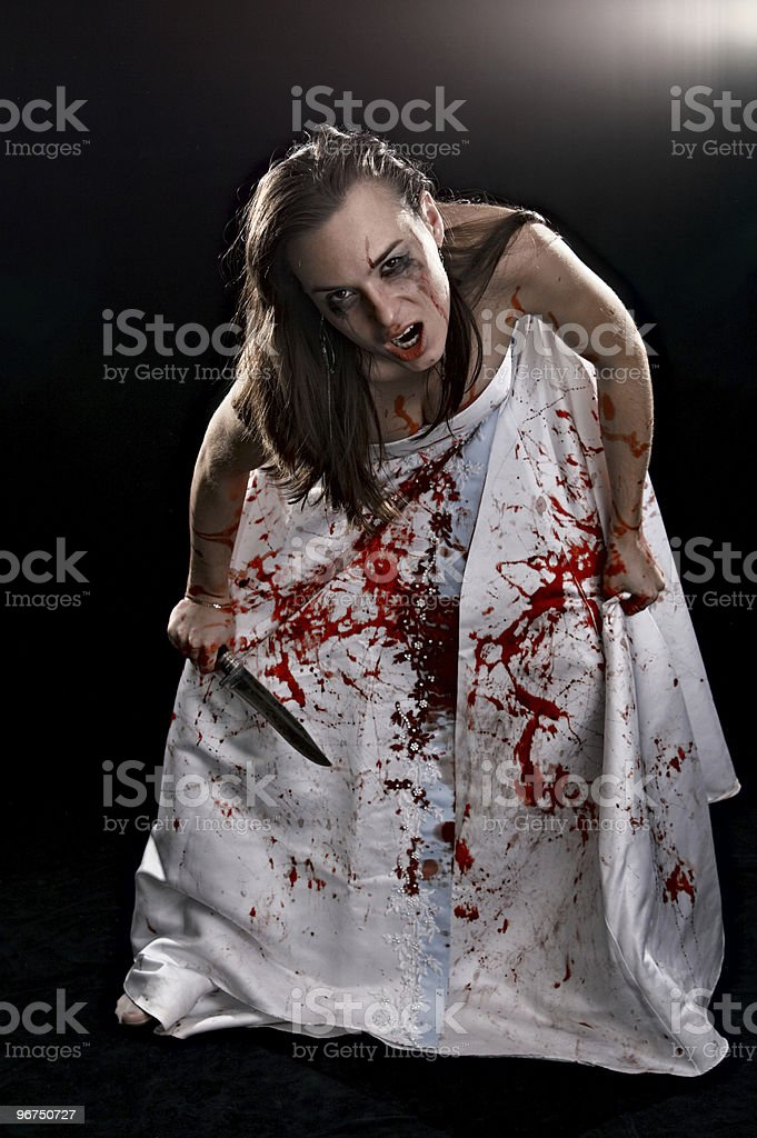 aggressive woman royalty-free stock photo