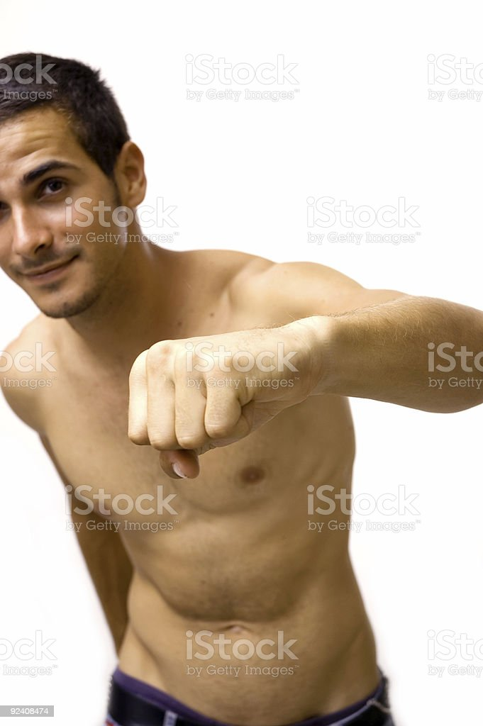 Aggressive young male royalty-free stock photo