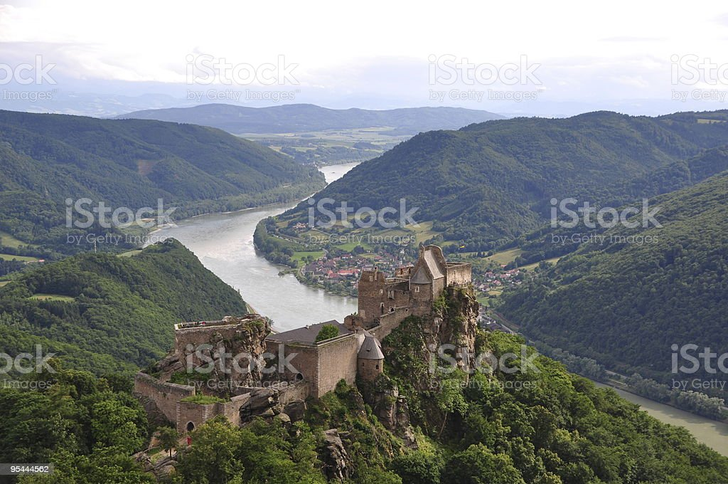 Burg Aggstein stock photo