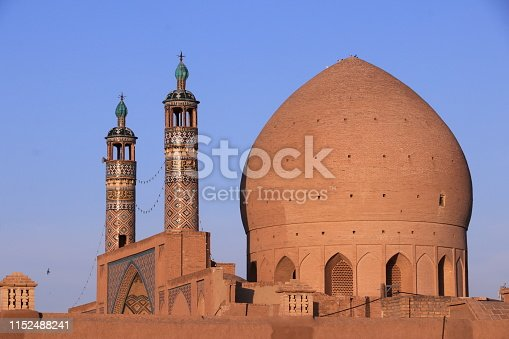 Iran, Mosque, Minaret, Adult, Architecture