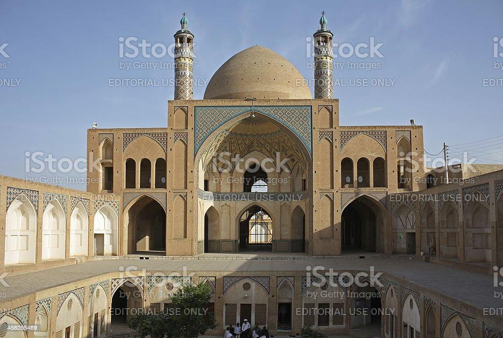 Agha Bozorgi school and mosque royalty-free stock photo