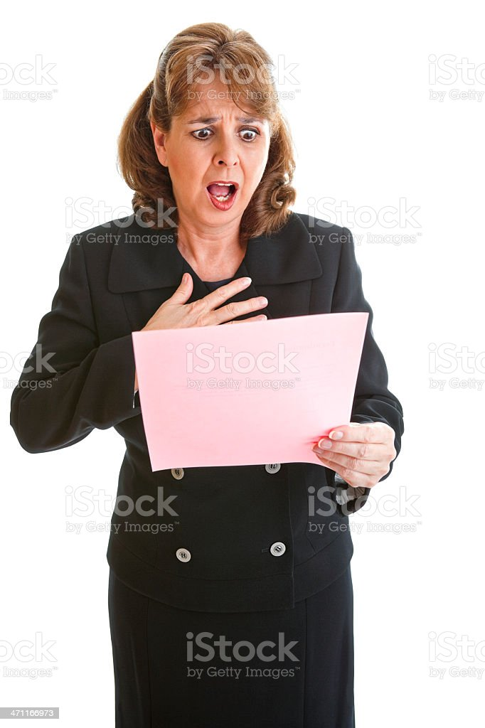 Aghast stock photo