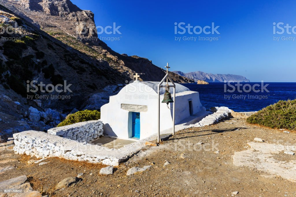 Agia Anna - Amorgos Island Cyclades stock photo